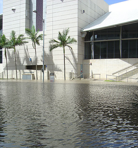 Flooding in Brisbane, the state capital.