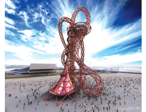 The ArcelorMittal Orbit will be ready to greet crowds at London's 2012 Summer Olympics.