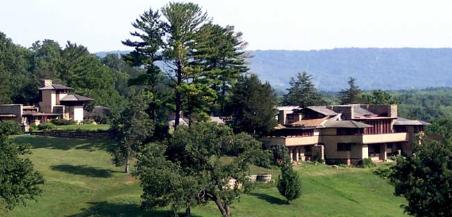 Taliesin is one of the most storied dwellings in America. Situated in the rolling countryside near Spring Green, Wisconsin, the 600-acre estate was Frank Lloyd Wright's primary residence and studio fo