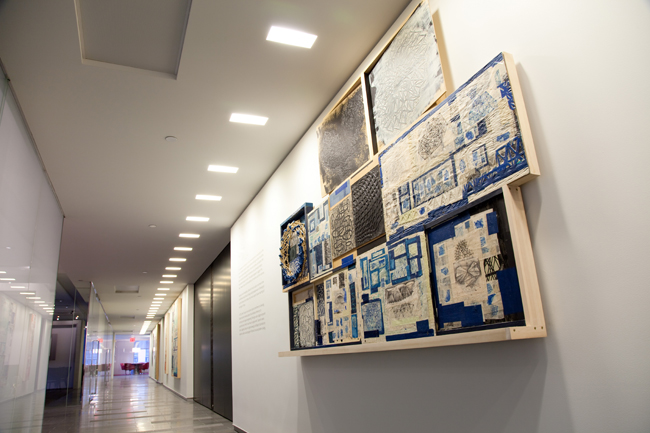 Gensler's Midtown Manhattan office introduced its art exhibition program in 2007, when it moved into a new space. To date, it has presented 13 exhibitions, with pieces put on view in corridors, confer