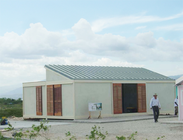 Six-room home made of prefabricated steel