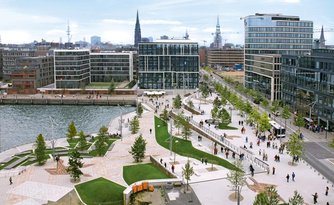 Aiming to be a world-class city, Hamburg is transforming its old port into a modern work-live-play district.