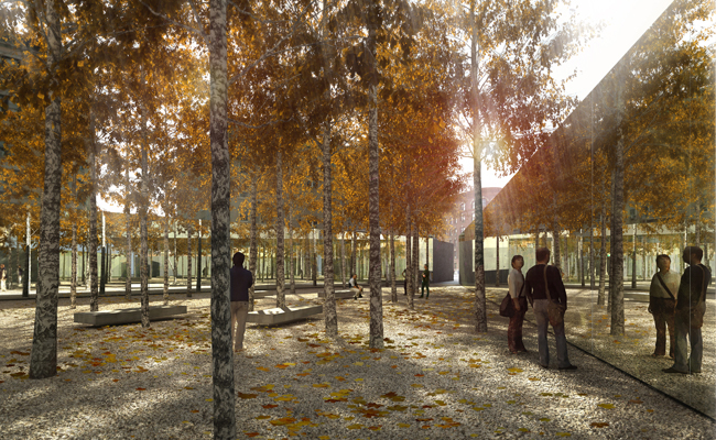 <strong>Winning Proposal:</strong> 'Infinite Forest,' Studio a+i's winning proposal for an AIDS memorial park in Manhattan's West Village.