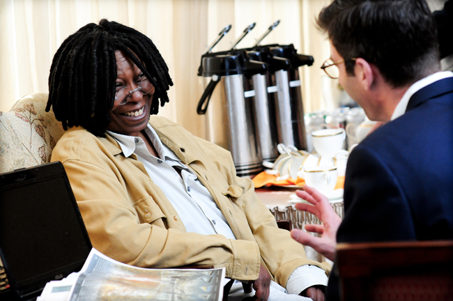 Jurors Whoopi Goldberg and Michael Arad.
