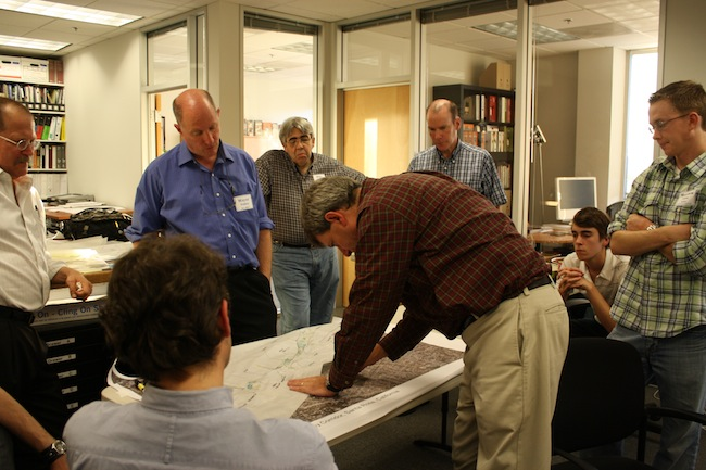 SDAT team members work on a plan for a Santa Rosa, CA greenway.