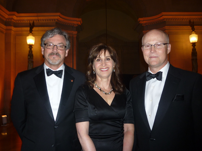 Ken Wilson of Envision Design with Gina Manlove and Steve Manlove of Perkins + Will.