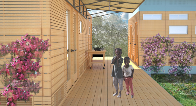 Architecture students from the University of Virginia are working in Haiti as part of a studio course called Initiative reCOVER. The current project, Breathe House, is a prefabricated structure design