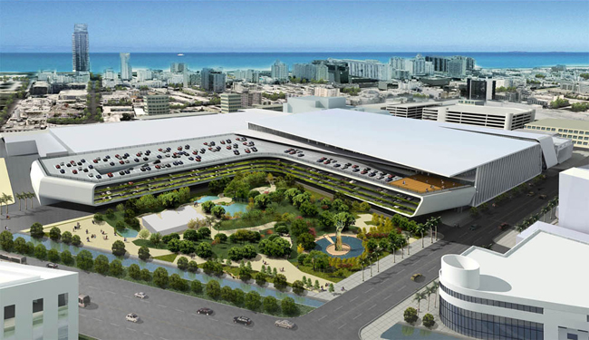 Arquitectonica designed a master plan for an upgrade/expansion of the Miami Beach Convention Center. The plan was rejected.