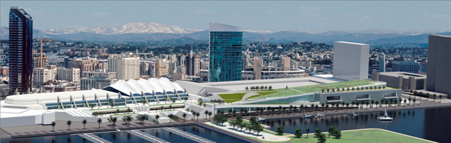 A major expansion is planned for the San Diego Convention Center. Fentress Architects is designing the project.
