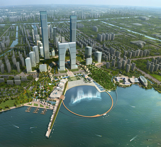 SWA has designed the public open spaces for Suzhou Center.