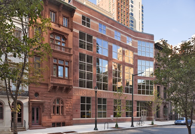 Daniel McCoubrey and his team at VSBA designed the 2011 addition to the Curtis Institute of Music in Philadelphia. Lenfest Hall houses students and provides rehearsal space.<br />