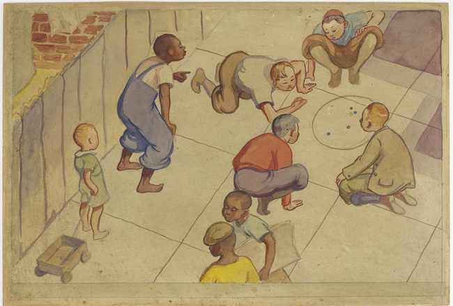 Lucienne Bloch, <em>The Cycle of a Woman&#8217;s Life</em>, study for a mural commissioned by Federal Art Project, Works Progress Administration, for the House of Detention for Women, Greenwich Villag