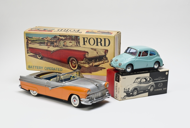 Ford convertible toy car with original box, c. 1956