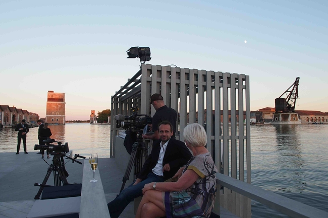 Former OMA architect Ole Scheeren's floating 'Archipelago' hosted a screening of a film about, well, Ole Scheeren.