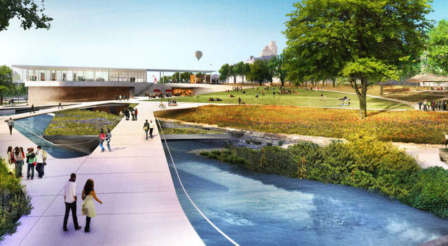 Waller Creek Design Competition, CMG and Public Architecture