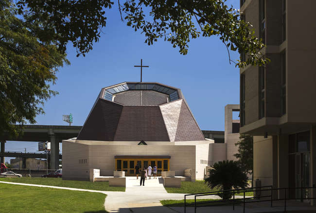 Pelli Clarke Pelli's St. Katharine Drexel Chapel at Xavier University in New Orleans, Louisiana.<br />