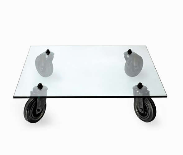 Aulenti's Table with Wheels (1980) is part of the Museum of Modern Art's permanent collection.