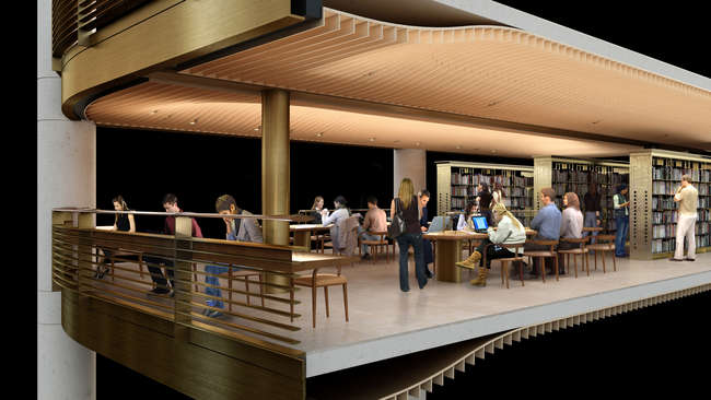 A new circulating library will be housed within the New York Public  Library's main building on 42nd Street in Manhattan. Designed by Foster +  Partners, the new 100,000-square-foot branch will replac