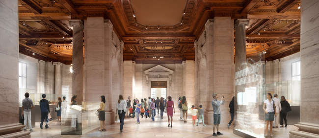 As part of Foster + Partners' renovations, Gottesman Hall will become a permanent exhibition space for special items from the library's collection.