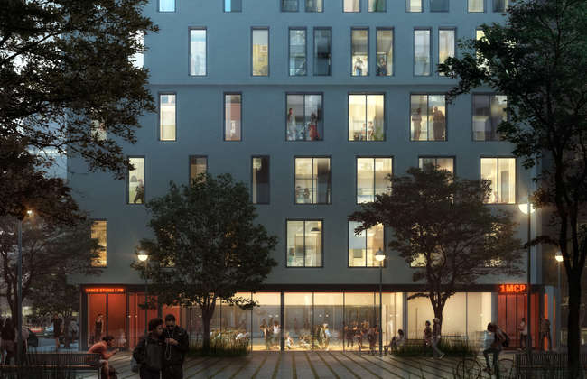 nARCHITECTS's winning design for a micro-unit apartment building in Manhattan's Kips Bay neighborhood.