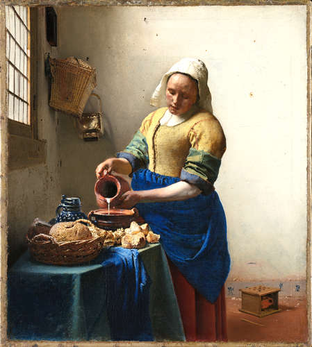 From the Rijksmuseum Collection: Johannes Vermeer, <em>The Milkmaid</em>, 1658-1660