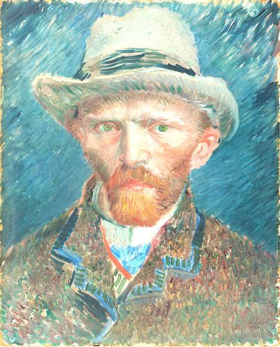 From the Rijksmuseum Collection: Vincent van Gogh, <em>Selfportrait</em>, 1887
