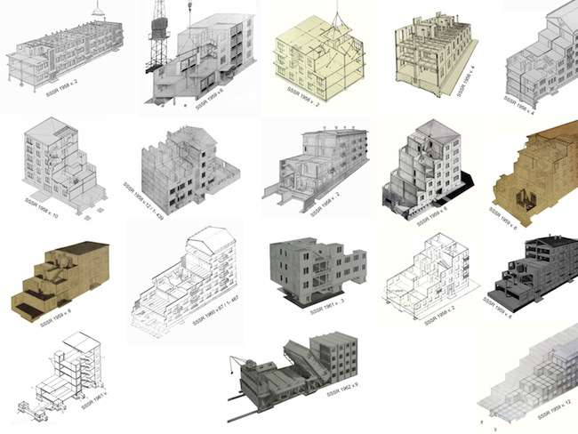 Housing prototype systems on view in <em>Cold War Cool Digital</em>.<br />