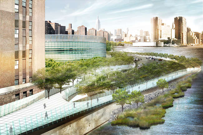 WXY Architecture + Urban Design's Blueway Plan for New York City's East River.<br />