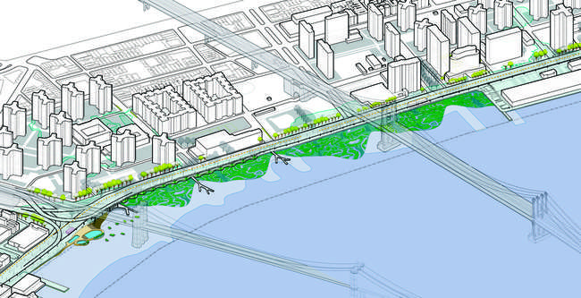 WXY Architecture + Urban Design's Blueway Plan for New York City's East River.