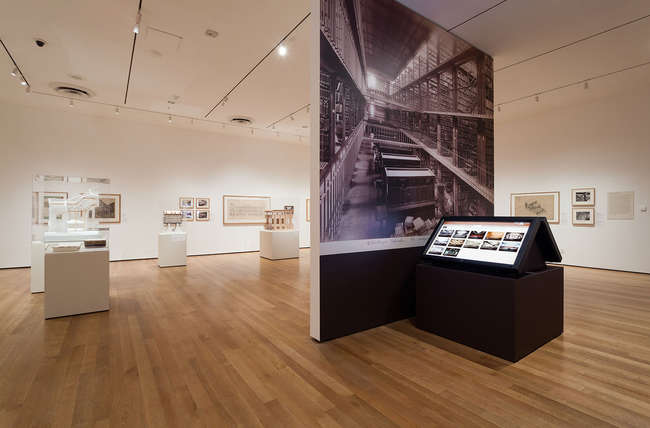 Installation view of exhibition 'Henri Labrouste: Structure Brought To Light.' March 10–June 24, 2013.