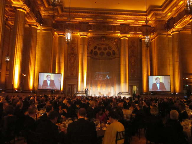 The American Architectural Foundation's Accent on Architecture gala was held in Washington, D.C., at the Andrew W. Mellon Auditorium—a Neoclassical building designed by San Francisco architect A