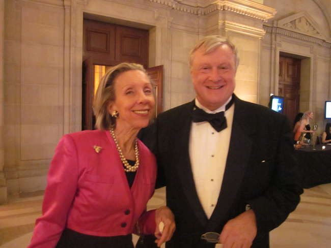 <em>Architectural Record</em> deputy editor Suzanne Stephens and Ford Petross, curator of architecture, design, and engineering collections at the Library of Congress.