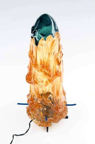 <em>Lamp with Blue on Top</em>, 2012, REsin