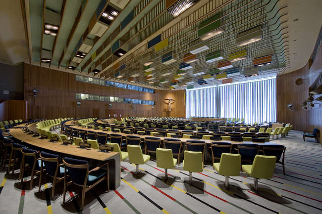 Finn Juhl United Nations Trusteeship Council Chamber
