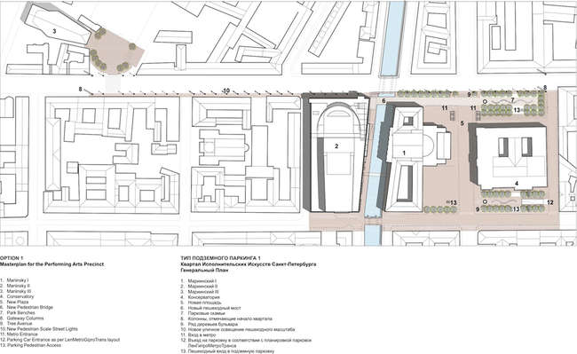 The Mariinsky Theater complex site plan.