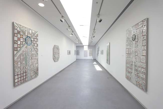 Another gallery shows 90-year-old Iranian artist Monir Shahroudy Farmanfarmaian's take on a traditional style of mirrored mosaic. Among the best work in the exhibition, the series caught a deser
