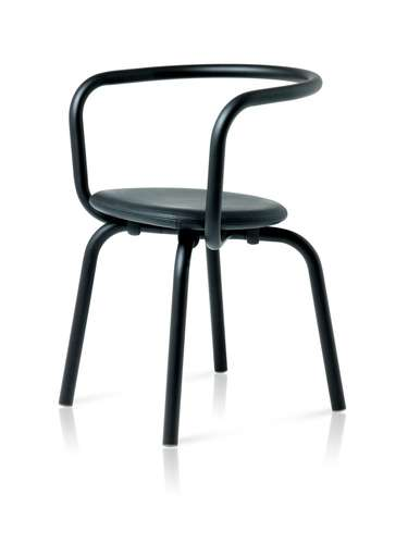 A chair from the Parrish Collection by Emeco and German designer Konstantin Grcic.