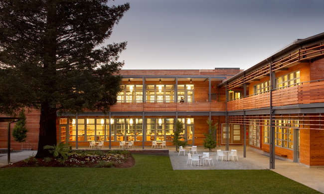 Marin Country Day School Learning Resource Center and Courtyard<br />EHDD<br />Corte Madera, California