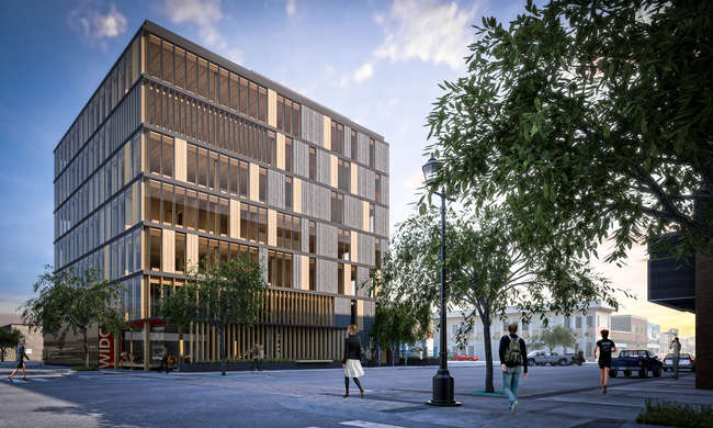 Michael Green Architects' Wood Innovation Centre in Prince George, British Columbia, Canada, breaks ground in May. <br />