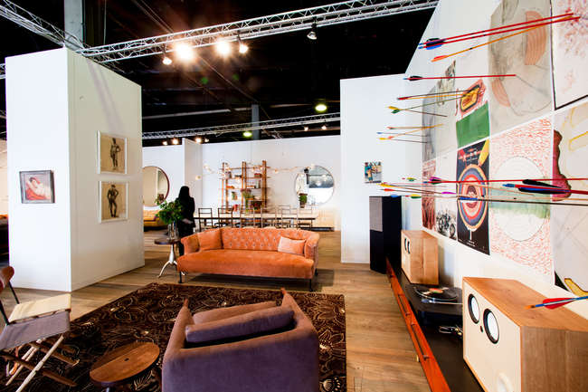 Installation image of BDDW VIP Lounge at the Collective.1 Design Fair.