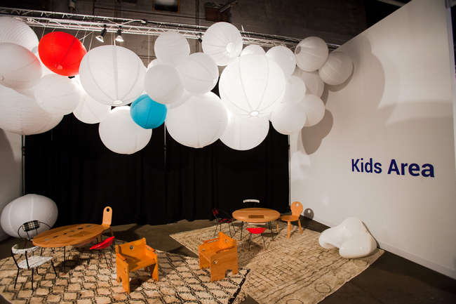 Installation view of Kinder MODERN at the Collective.1 Design Fair.