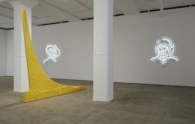 Installation view of the Los Carpinteros exhibition <em>Irreversible</em> at Sean Kelly Gallery