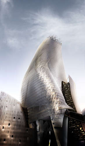 Rendering of Phare Tower (projected completion 2017), Paris, Morphosis Architects