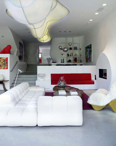 Interior of Bloom House, Southern California, Greg Lynn FORM, in collaboration with Lookinglass Architecture & Design