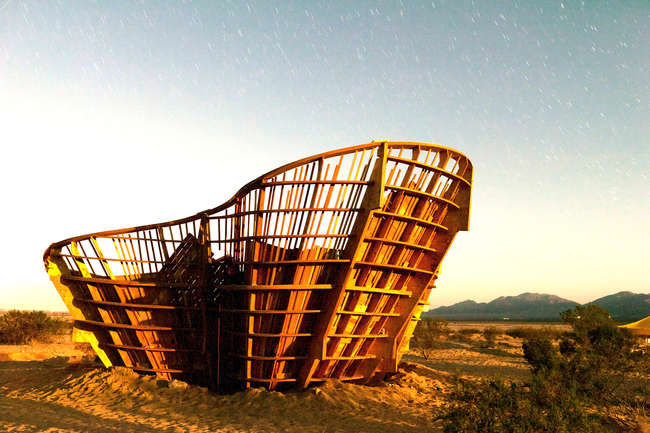 Yucca Crater, installation near Twentynine Palms, California, Ball-Nogues Studio