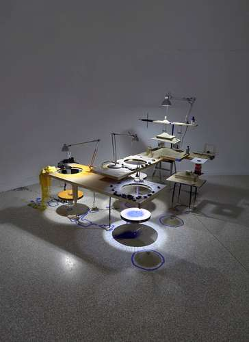 U.S. Pavilion: Sarah Sze, <em>Triple Point (Eclipse)</em>, 2013. Mixed media.