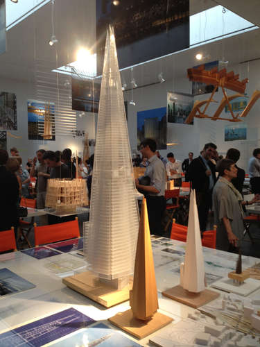 A model of Renzo Piano's Shard tower (2012) in London, on display at Manhattan's Gagosian gallery.