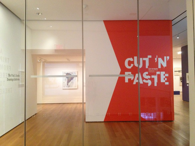 Installation view of <em>Cut 'n' Paste: From Architectural Assemblage to Collage City.</em>
