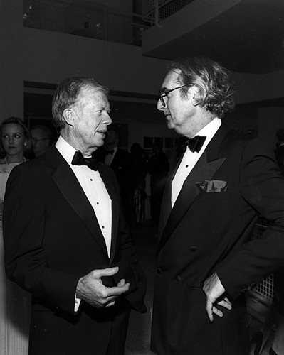 Meier at the opening of Atlanta's High Museum of Art with President Jimmy Carter.