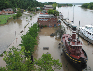 Irene's Blow: The Hudson River Maritime Museum and Tugboat Mathilda, also part of the museum, suffered severe flooding from 2011's Hurricane Irene.